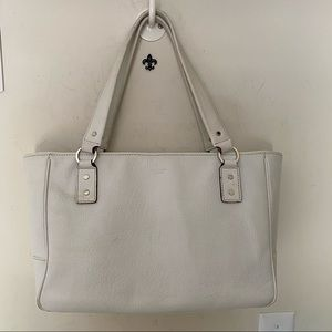 Kate Spade New York White leather structured Satc…